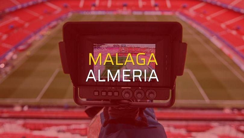 Malaga - Almeria maçı rakamları