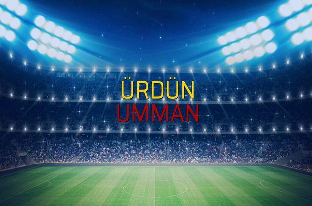 Ürdün - Umman sahaya çıkıyor