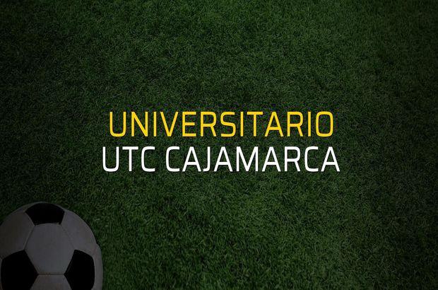 Universitario - UTC Cajamarca maçı rakamları