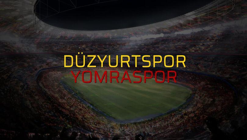 Düzyurtspor - Yomraspor maçı heyecanı