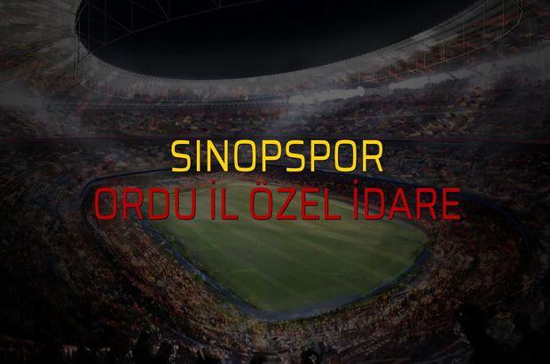 Sinopspor - Ordu İl Özel İdare maçı ne zaman?