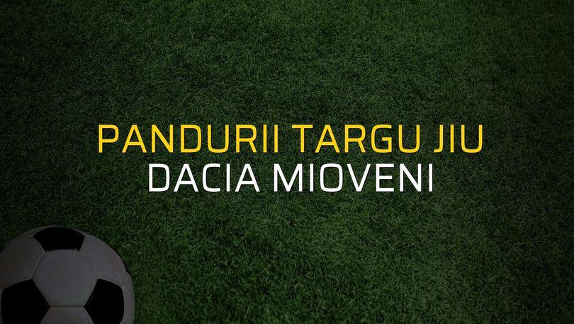 Pandurii Targu Jiu - Dacia Mioveni karşılaşma önü