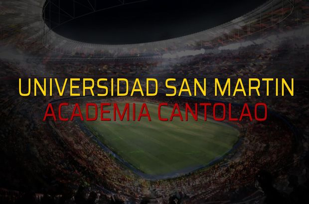 Universidad San Martin - Academia Cantolao düellosu