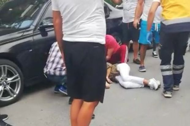 Lüks araçtaki kadına silahlı saldırı