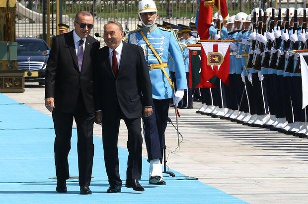 Cumhurbaşkanı Erdoğan ile Nazarbayev'den işbirliği açıklaması!