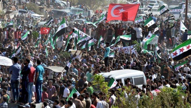 İdlib'de gösteri