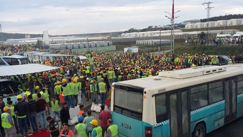 Yeni Havalimanı iş bırakma eylemi