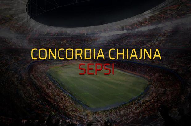 Concordia Chiajna - Sepsi maçı rakamları