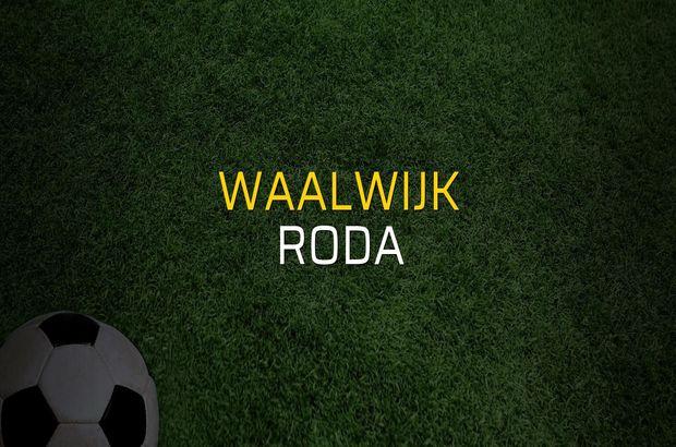 Waalwijk - Roda maçı rakamları