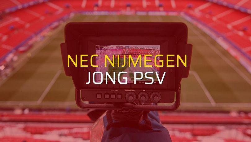 Nec Nijmegen - Jong PSV maçı öncesi rakamlar