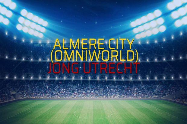 Almere City (Omniworld) - Jong Utrecht maçı öncesi rakamlar