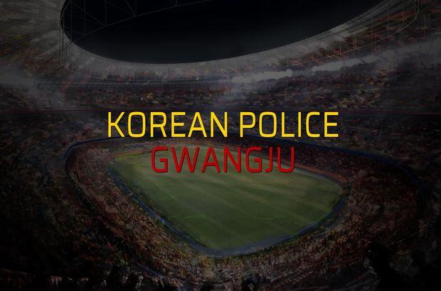 Korean Police - Gwangju maçı öncesi rakamlar