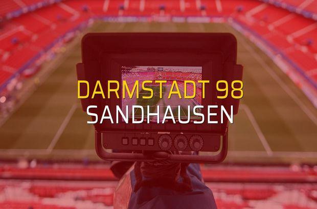 Darmstadt 98 - Sandhausen rakamlar