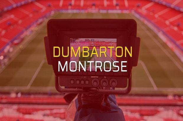 Dumbarton - Montrose sahaya çıkıyor