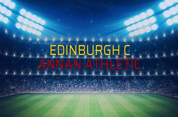 Edinburgh C - Annan Athletic maçı öncesi rakamlar