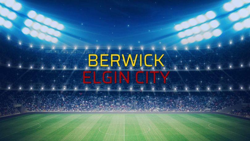 Berwick - Elgin City düellosu