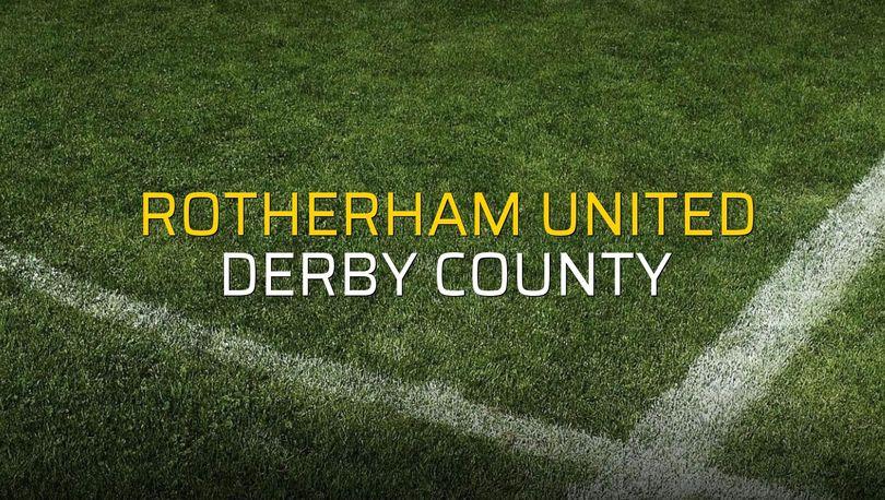 Rotherham United - Derby County rakamlar