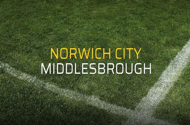 Norwich City - Middlesbrough düellosu