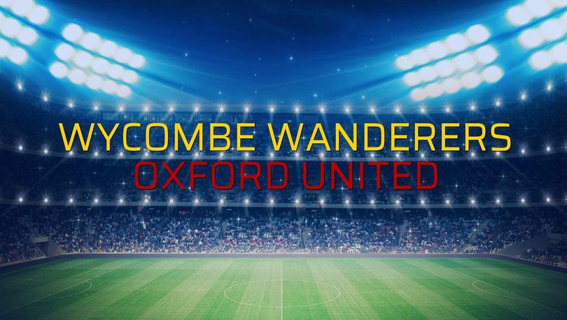 Wycombe Wanderers - Oxford United maçı rakamları