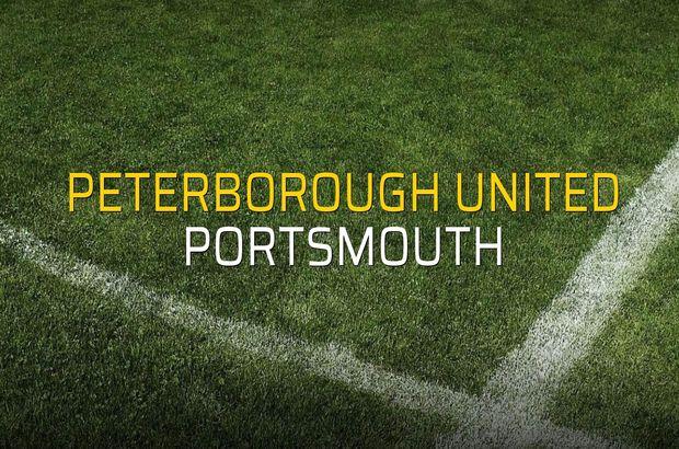 Peterborough United - Portsmouth maç önü