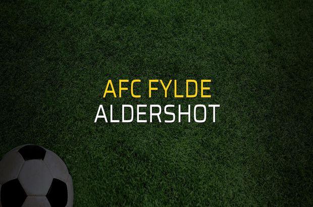 AFC Fylde - Aldershot karşılaşma önü