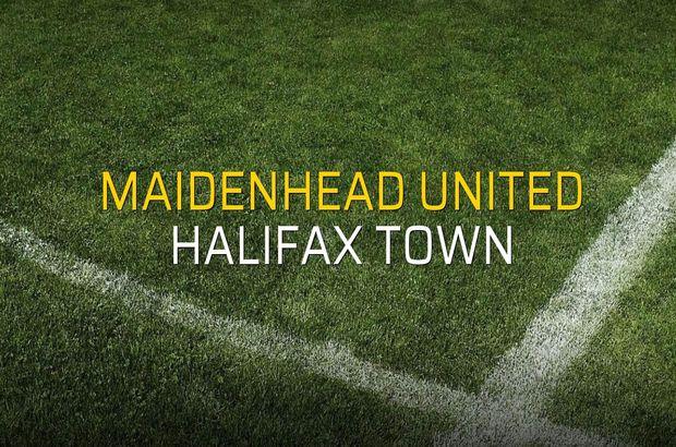 Maidenhead United - Halifax Town rakamlar