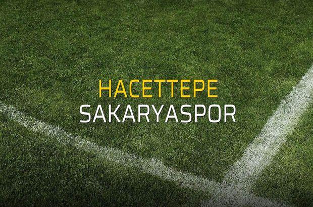 Hacettepe - Sakaryaspor maçı öncesi rakamlar
