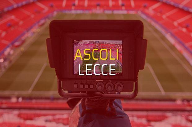 Ascoli - Lecce maç önü