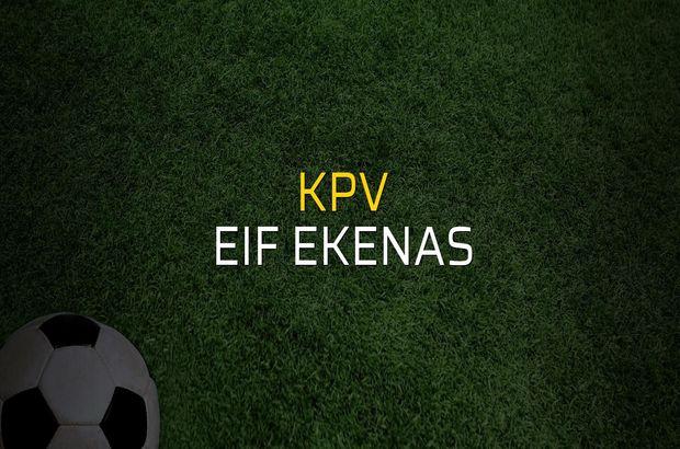 KPV - EIF Ekenas maç önü