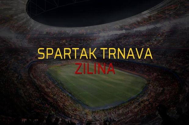 Spartak Trnava - Zilina maçı öncesi rakamlar