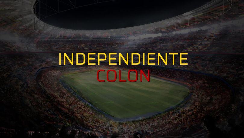 Independiente - Colon maçı rakamları