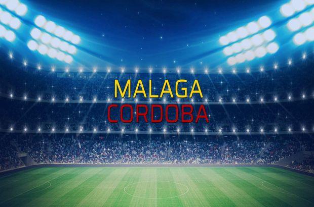 Malaga - Cordoba maçı rakamları