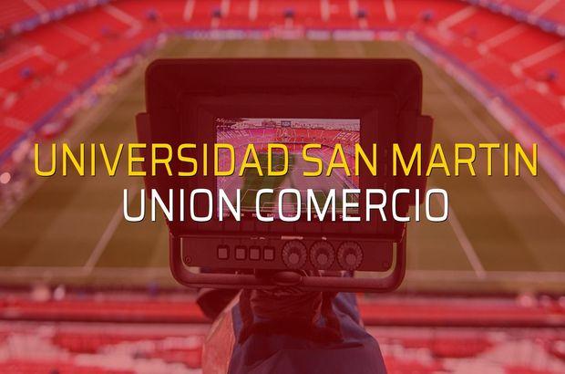 Universidad San Martin - Union Comercio maç önü