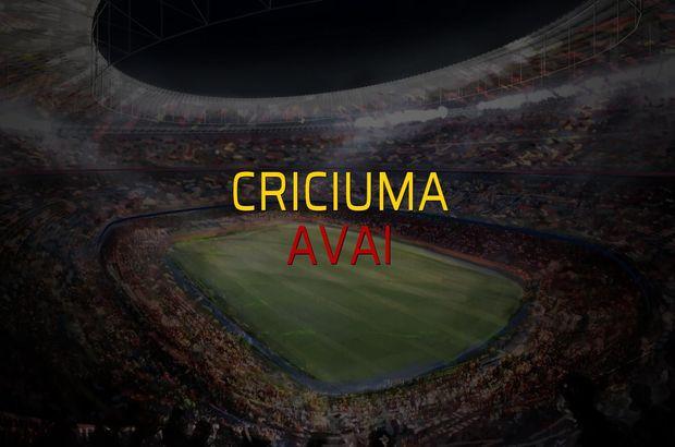 Criciuma - Avai düellosu