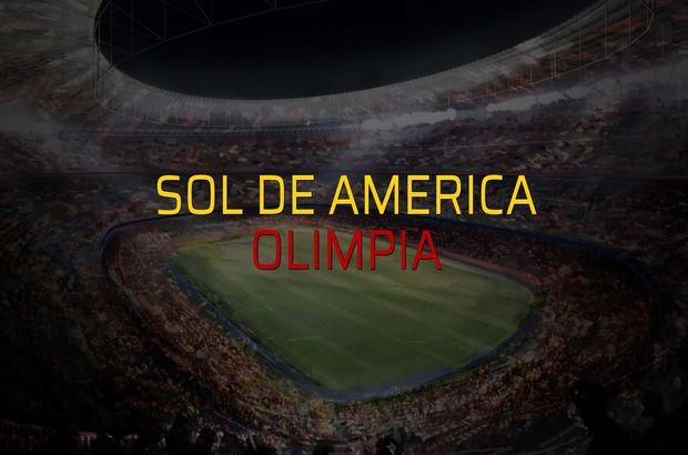 Sol de America - Olimpia rakamlar