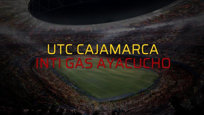 UTC Cajamarca - Inti Gas Ayacucho maç önü