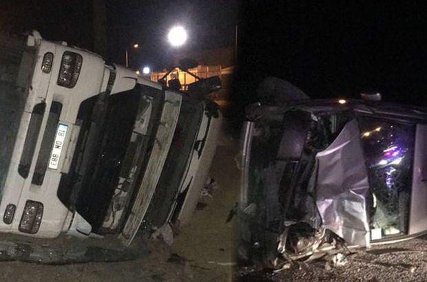 Çankırı'da iki ayrı trafik kazasında 8 kişi yaralandı