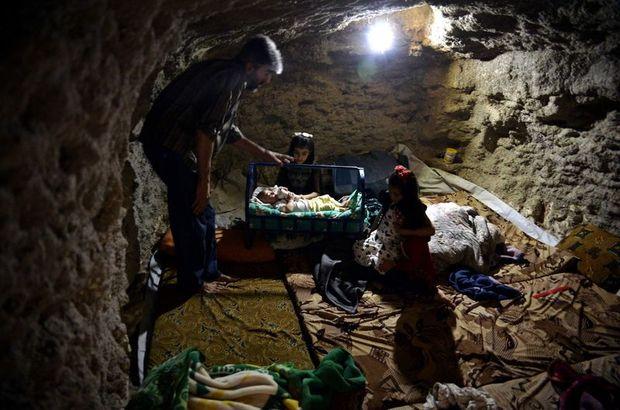 İdlib'de evlerin altı sığınak oldu