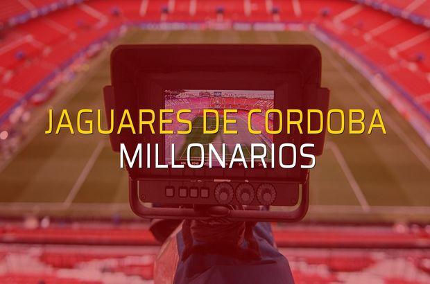 Jaguares De Cordoba - Millonarios maç önü
