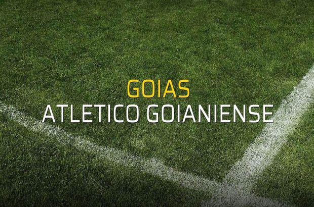 Goias - Atletico Goianiense maçı istatistikleri
