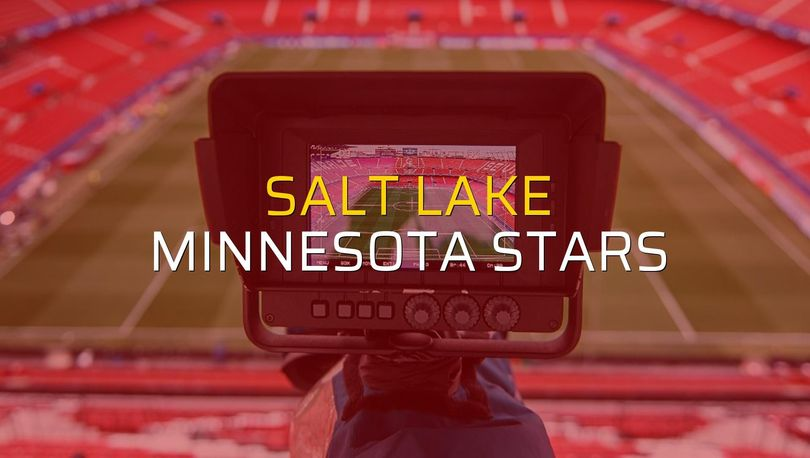 Salt Lake - Minnesota Stars maçı rakamları