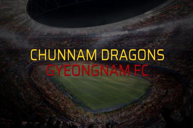 Chunnam Dragons - Gyeongnam FC maçı istatistikleri