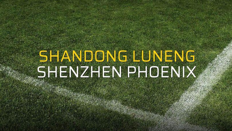 Shandong Luneng - Shenzhen Phoenix maçı öncesi rakamlar