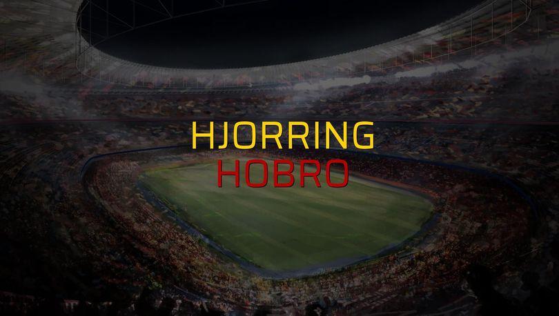 Hjorring - Hobro maçı öncesi rakamlar