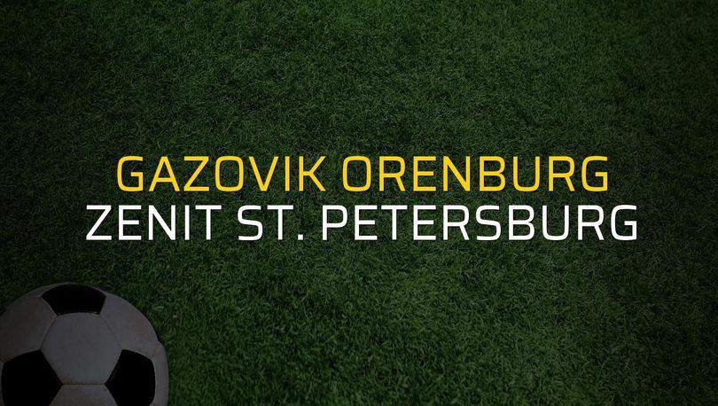 Gazovik Orenburg - Zenit St. Petersburg maç önü