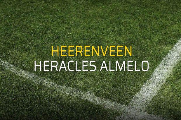 Heerenveen - Heracles Almelo sahaya çıkıyor