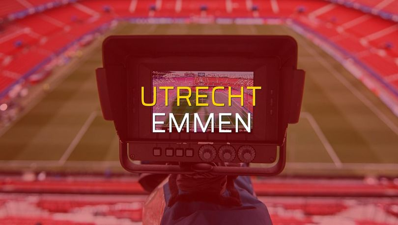Utrecht - Emmen maçı öncesi rakamlar