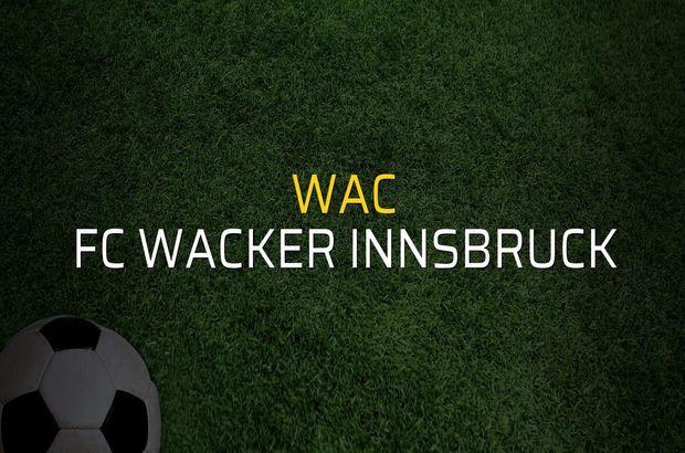 WAC - FC Wacker Innsbruck sahaya çıkıyor