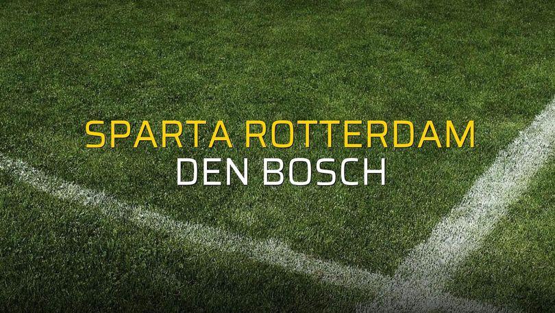 Sparta Rotterdam - Den Bosch maçı rakamları