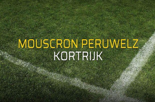 Mouscron Peruwelz - Kortrijk rakamlar